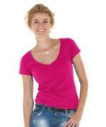 (Dames) Shirt met diepe V-hals
