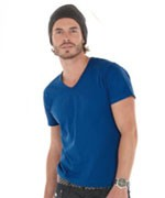 (Heren) Shirt met diepe V-hals